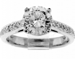 2.26TW CT GIA ROUND BRILLIANT ENGAGEMENT RING
