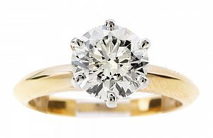 2.01 Carat GIA ROUND BRILLIANT Diamond Engagement Ring