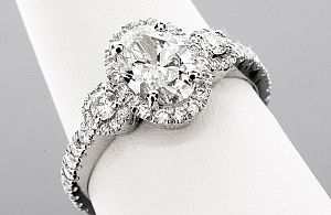 1.62 Carat GIA OVAL Diamond Engagement Ring