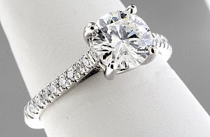 1.19 Carat Round Brilliant Diamond Engagement Ring -PLATINUM