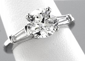 2.37 Carat GIA IDEAL CUT Round Brilliant Diamond Engagement Ring