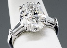 3.71 Carat GIA OVAL Diamond Engagement Ring
