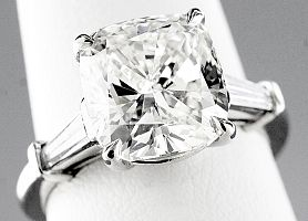 5.42 Carat GIA CUSHION CUT Diamond Engagement Ring