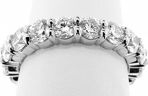 3.30 Carat TW Round Brilliant Diamond Eternity Ring