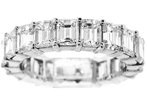 5.88 CT TW Emerald Cut Diamond Eternity Ring