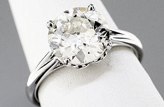 2.65 Carat OLD EUROPEAN Cut Diamond Engagement Ring