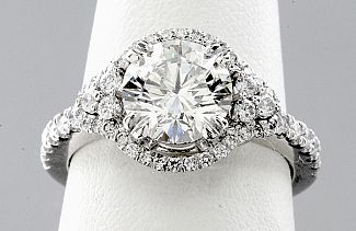 2.08 Carat TW ROUND Brilliant Diamond Engagement Ring