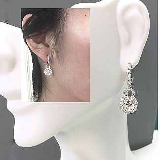 Magnificent GIA Cushion Cut Diamond Earrings